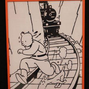 Cuadro_Tintin_blanco_y_negro_Tintin_y
